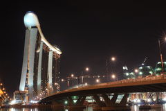 Marina Bay Sands Landscape Stock Photography