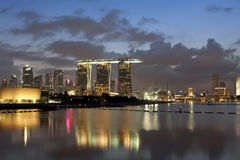 Marina Bay Sands Landscape Stock Photos