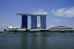 Marina Bay Sands Landscape Royalty Free Stock Photos