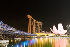 Marina Bay Sands Landscape Singapore Stock Afbeelding