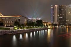 Marina Bay Sands Lasershow Fotografia Stock Libera da Diritti