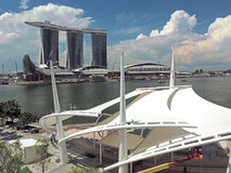 Marina Bay Sands Late Morning Scene Stock Images