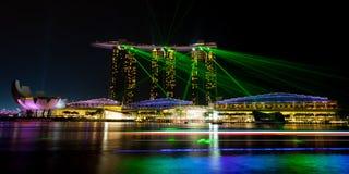 Marina Bay Sands Light Show Stock Photos