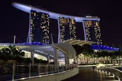 Marina Bay Sands. Luxury hotel, malls, and one of the most popupular building in singapore Stock Image