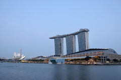 Marina Bay Sands. Luxury hotel, malls, and one of the most popupular building in singapore Stock Photo
