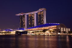 Marina Bay Sands. Luxury hotel, malls, and one of the most popupular building in singapore Royalty Free Stock Photo