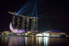 Marina Bay Sands. Luxury hotel, malls, and one of the most popupular building in singapore Stock Photos