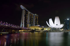 Marina Bay Sands. Luxury hotel, malls, and one of the most popupular building in singapore Royalty Free Stock Photography