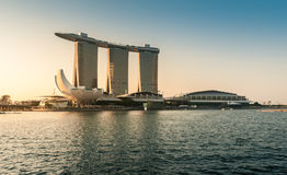 The Marina Bay Sands in The Morning in Singapore. Royalty Free Stock Image