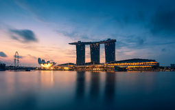 The Marina Bay Sands in The Morning. Stock Images