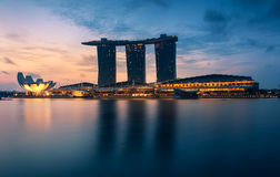 The Marina Bay Sands in The Morning. Royalty Free Stock Photos