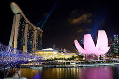 Marina Bay Sands, museo di ArtScience Immagini Stock Libere da Diritti