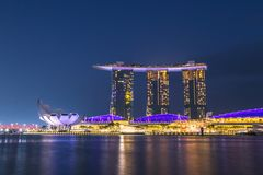 Marina Bay Sands is a must see destination in Asia and has contributed to increasing business and leisure tourism to Singapore. stock image