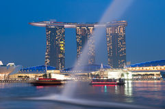 Marina Bay Sands at Night Royalty Free Stock Photos