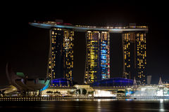 Marina Bay Sands by Night Royalty Free Stock Photography