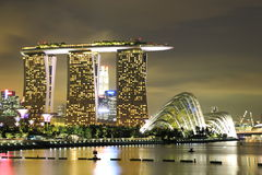 Marina Bay Sands at Night Royalty Free Stock Photography