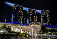 Marina Bay Sands by Night Stock Photography