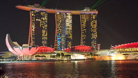 Marina Bay Sands At Night Stock Photo