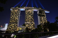 Marina Bay Sands (Night lights) Royalty Free Stock Image