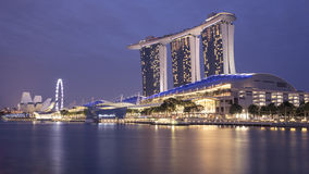 Marina Bay Sands at Night Royalty Free Stock Photo