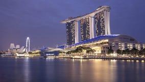 Marina Bay Sands at Night Royalty Free Stock Photo