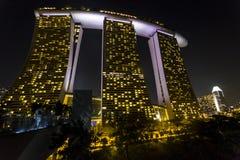 Marina Bay Sands at night Royalty Free Stock Image
