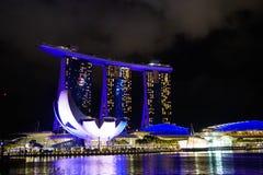 Marina Bay Sands at night Royalty Free Stock Images