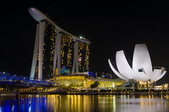 Marina Bay Sands at night Stock Photography