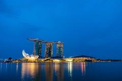 Marina Bay Sands at night Stock Photo