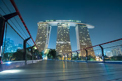 Marina Bay Sands at night. Stock Photography