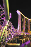 Marina Bay Sands night view Royalty Free Stock Photos