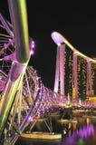 Marina Bay Sands night view Royalty Free Stock Photos