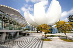 Marina Bay Sands opera och shoppinggalleria Singapore Arkivfoton