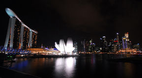 Marina bay sands otel in singapore Royalty Free Stock Photography