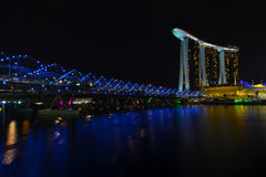 Marina bay sands otel in singapore Stock Image