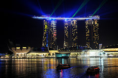 Marina Bay Sands resort Royalty Free Stock Photos