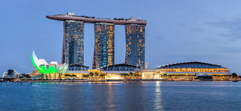 Marina Bay Sands is a Resort fronting Marina Bay in Singapore. Stock Images