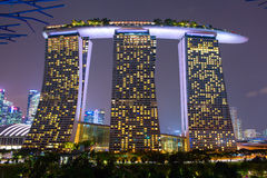 Marina Bay Sands is a Resort fronting Marina Bay in Singapore. Stock Photos