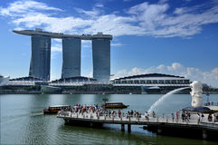 The Marina Bay Sands Resort Hotel Stock Image
