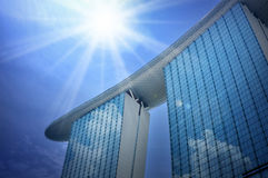 The Marina Bay Sands Resort Hotel royalty free stock photography