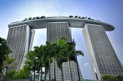 Marina Bay Sands Resort Hotel Royaltyfria Bilder