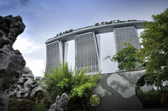 Marina Bay Sands Resort Hotel Foto de Stock