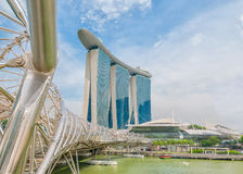 Marina Bay Sands Resort Hotel in Singapore Stock Images