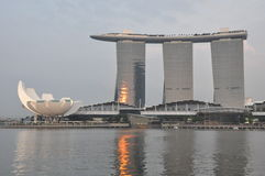 The Marina Bay Sands Resort Hotel in Singapore Royalty Free Stock Photography