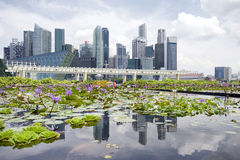 The Marina Bay Sands Resort Hotel. SINGAPORE-MAY 9: The Marina Bay Sands Resort Hotel on May 9, 2015 in Singapore. It is an integrated resort and the world's Royalty Free Stock Images