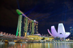 The Marina Bay Sands Resort Hotel. SINGAPORE-MAY 9: The Marina Bay Sands Resort Hotel on May 9, 2015 in Singapore. It is an integrated resort and the world's Stock Photography