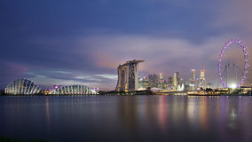 The Marina Bay Sands Resort Hotel. SINGAPORE-MAY 9: The Marina Bay Sands Resort Hotel on May 9, 2015 in Singapore. It is an integrated resort and the world's Royalty Free Stock Photo