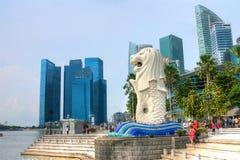 The Marina Bay Sands Resort Hotel Stock Photo