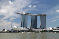 The Marina Bay Sands Resort Hotel Royalty Free Stock Photo