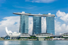 Marina Bay Sands Resort Hoter Stock Afbeeldingen